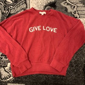 Spiritual gangster Give Love Pullover